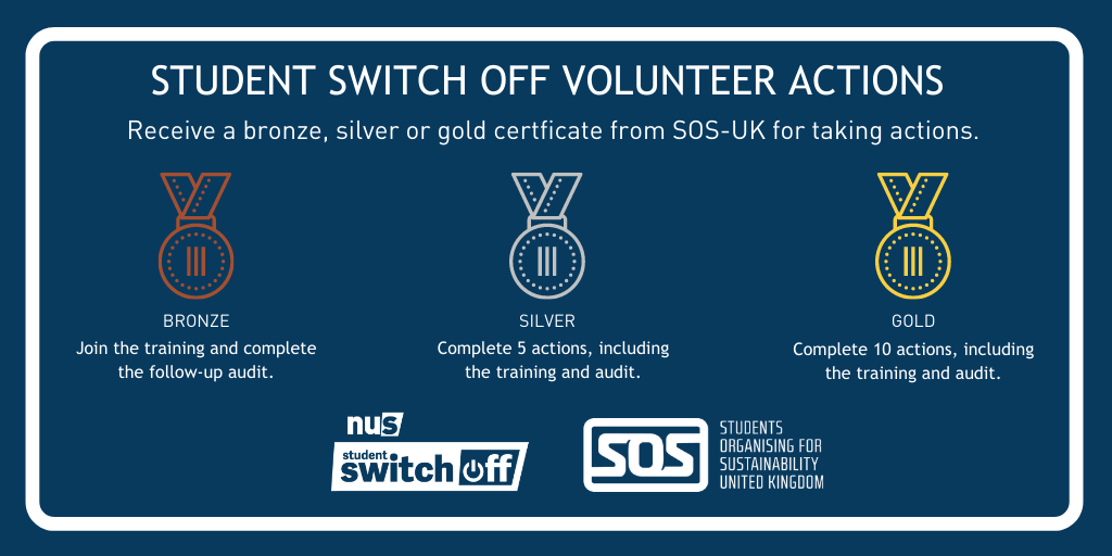 Volunteers receive a bronze, silver or gold certificate for completing actions.