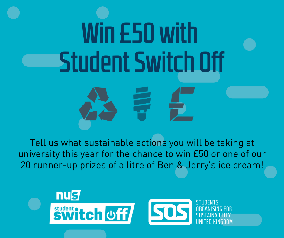 Win £50 with Student Switch Off
